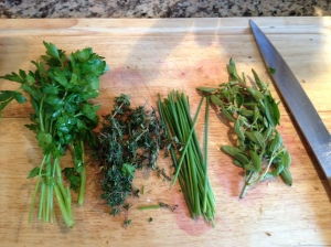 Parsley, thyme, chives, oregano